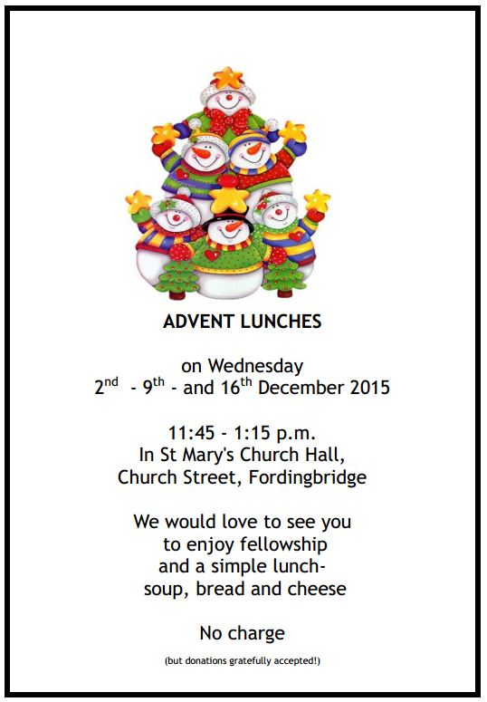 2015 Advent Lunches